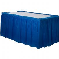 Royal Blue Plastic Table Skirt